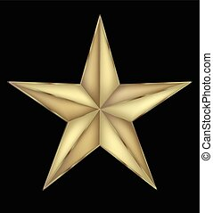 Gold star holiday symbol