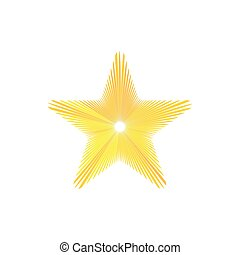 Gold star icon, cartoon style