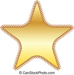 gold star in rope