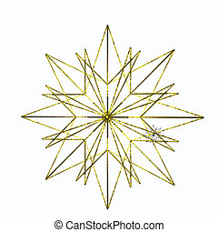 Gold Star - Isolated gold star