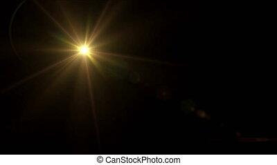 gold Star lens flare 4k