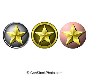 Gold star medals