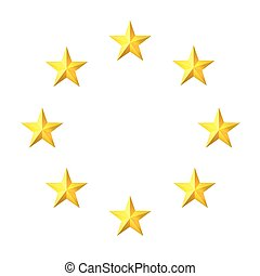 Gold star on a metal background with holes