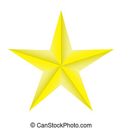 gold star on a white background isolated