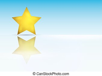 gold star with reflection