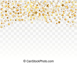 Gold stars Holiday background, Falling golden shining star...