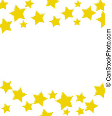 Gold stars making a border on a white background, A winning gold star border