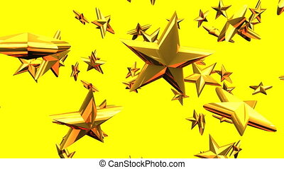 Gold stars on yellow background