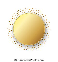 Gold sticker isolated. Vector illustration.