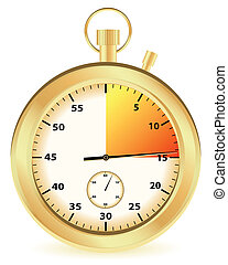 gold stopwatch