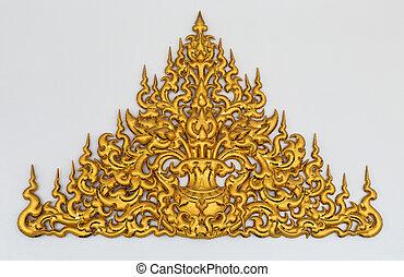 gold stucco Thai style