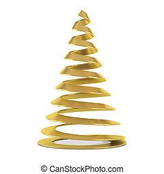 Gold stylized Christmas tree