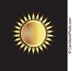 Gold Sun image. Concept of power