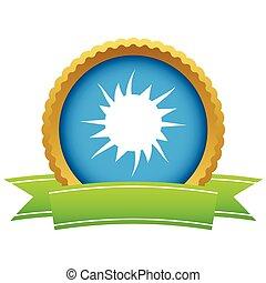 Gold sun logo