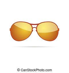 gold sunglasses classic color vector