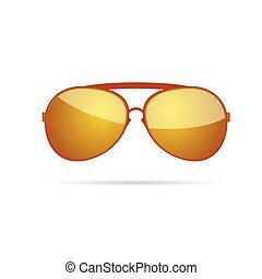 gold sunglasses color vector