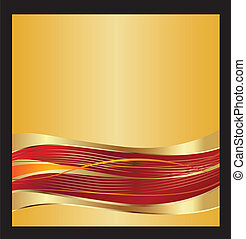 Gold swirly waves background