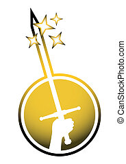 Gold sword - Creative design of gold sword