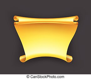 gold szalag, transzparens