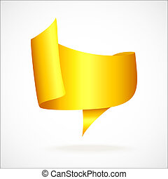 gold tape isolated on a white background