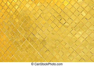 Gold texture at Wat Phra Kaew, Temple of the Emerald, Bangkok, Thailand