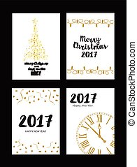 gold texture Christmas card