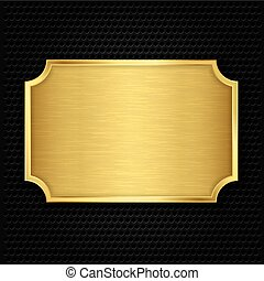 Gold texture plate, vector illustra