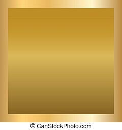 Gold texture square golden frame
