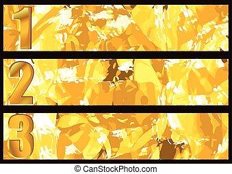 gold textured banner