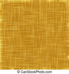 Gold thread on the fabric. Abstract gold flax textil background