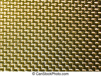 Gold thread on the fabric background