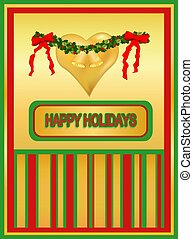 Gold-tone Christmas Card
