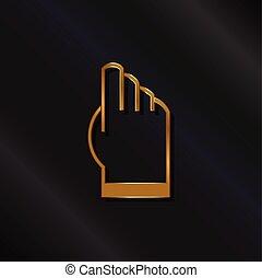 Gold touchscreen hand logo