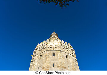 Gold Tower in Seville, southern Spain. - Gold Tower (Torre ...