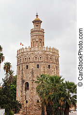 Gold tower in Seville, Spain