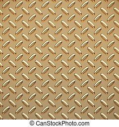 gold tread plate - a very large sheet of gold diamond or...