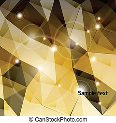 Gold triangle background. Vector