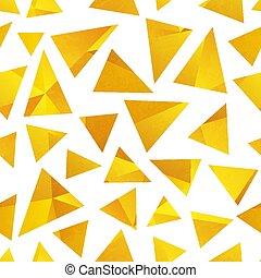 Gold triangle seamless pattern.