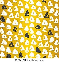 Gold Triangle Seamless Pattern