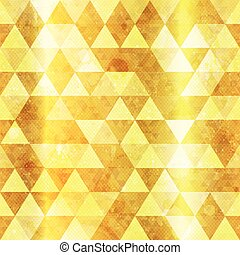 Gold triangles seamless pattern