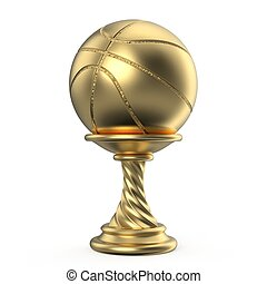 Gold trophy cup BASKETBALL 3D