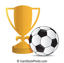 Gold Trophy Cup football soccer