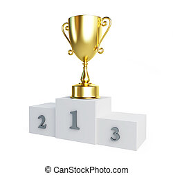gold trophy cup pedestal - gold trophy cup winners pedestal...