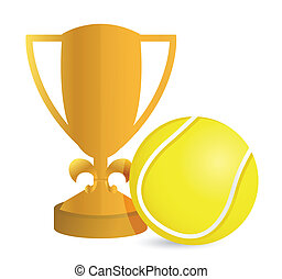 Gold Trophy Cup Tennis