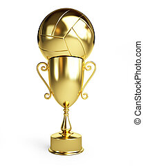 Gold Trophy Cup volleyball