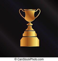Gold trophy logo