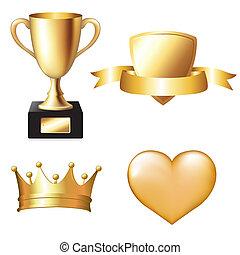 Gold Trophy Set