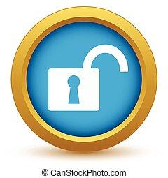 Gold unlock icon