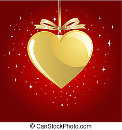 Gold Valentine Heart