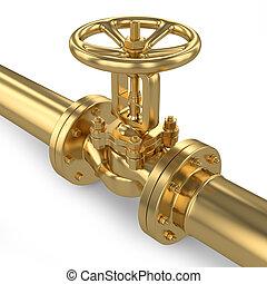 Gold valve of pipeline